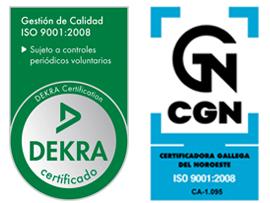 Empresa certificada conforme a la norma ISO 9001:2008