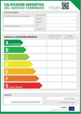 Certificado de calificación  energética