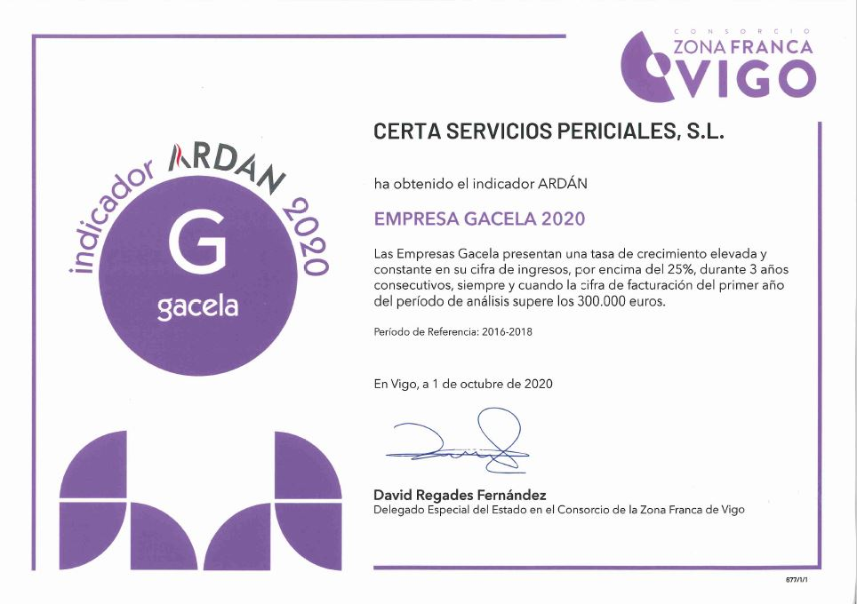 Certa Empresa Gacela 2020